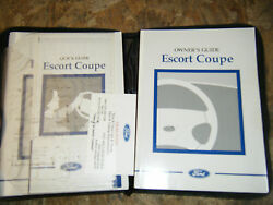 1998 FORD ESCORT COUPE FACTORY OWNERS MANUAL OPERATORS BOOK WITH FOLDER