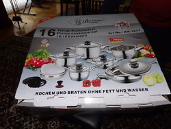 Restaurant Value 16 Pieces 9 Layerb German Pots And Pans New In The Original Box