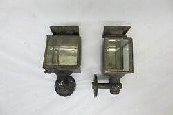 Rare Vintage 1910and039s 1920and039s Oil Coach Cowl Lights Cabin Lantern Original Pair