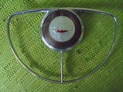 49 50 Ford Deluxe Steering Wheel Horn Ring Button Emblem 1949 1950