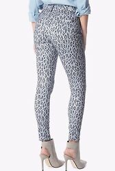 198 Nwt 7 For All Mankind Sz27 Midrise Ankle Skinny Stretch Jeans Ice Leopard