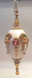 Authentic Egg Bejeweled W/ - Easter / Christmas Tree Ornament