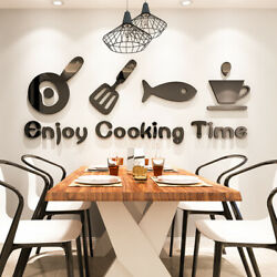 3D Wall Stickers Waterproof Three dimensional Wall Decals Kitchen Art Decoration