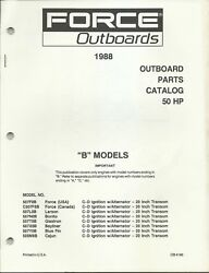 Us Marine Power Force Outboards 50 Hp B Models 1988 Parts Catalog Ob4193