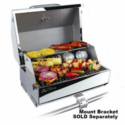 Camco-armada Gas Grill-kuuma 216 Elite Stainless Steel 216 Sq. In Boat 58155 Lc
