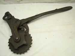 Early Cast Iron Fence Stretcher Farm Tool Ratchet Lamb Wire Co Adrian Steam Punk