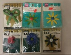 Vintage Ponytail Holders Unique Old Hard To Find Retro Items Nice Flowers