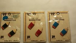 Vintage Kids Barrettes Wire Back Unique Old Hard To Find Retro Items Nice