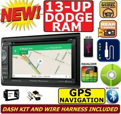 2013 And Up Ram Dvd/cd/usb Gps Navigation System Bluetooth Car Stereo Radio