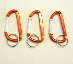 3 NEW RED CARABINER SPRING CLIP KEYCHAINS BELT BACKPACK KEY RING CHAIN 3