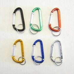 15 NEW CARABINER SPRING CLIP KEYCHAINS BACKPACK BELT KEY RING CHAINS  3