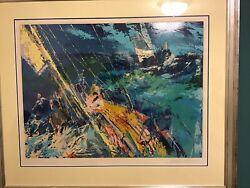 Leroy Neiman Ocean Sailing Signed Limited Edition Serigraph 85/300