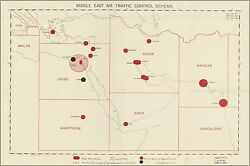 Poster, Many Sizes Map Of Middle East Air Traffic Control 1946