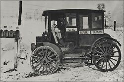 Poster Many Sizes Rural Carrier In Automobile At Mailboxes C.1910