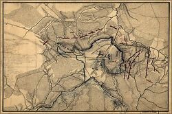 Poster Many Sizes Map Of The Battle Of Chancellorsville 1863 P2