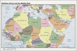 Poster, Many Sizes Cia Map North Africa And Middle East 1990