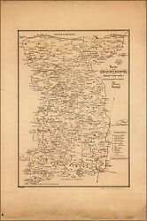 Poster Many Sizes Map Of Korea 1840 In German
