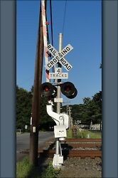 Poster, Many Sizes Grade Crossing Railroad Train Signal Sign