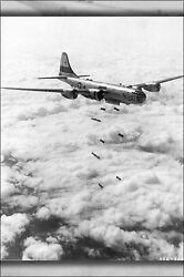 Poster Many Sizes B-29 Superfortress Dropping 1000lb Bombs Korean War August