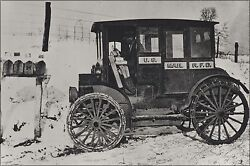 Poster Many Sizes Rural Postal Carrier In Automobile At Mailboxes C.1910