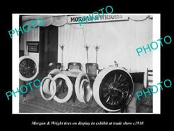 Old 8x6 Historic Photo Of The Morgan And Wright Tires Auto Show Display C1910