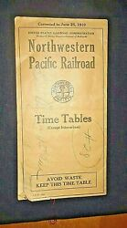 Extremely Rare Original Northern Pacific Railway Time Table Circa 1919