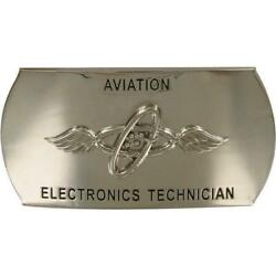 Genuine Navy Enlisted Specialty Belt Buckle Aviation Electronics Technician At