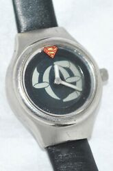 Fossil for Warner Bros. Superman Analog Digi Watch Black Leather Band WB17010394 $42.00