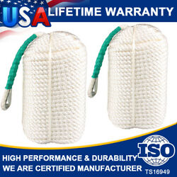 1/2x300 Ft 2 Pack Twisted Braided Nylon Anchor Rope Line With Thimble Boat Rode