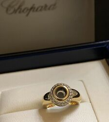 Chopard Happy Diamond Limited Edition. 18k Yellow Gold. Ring Size Us 4.75