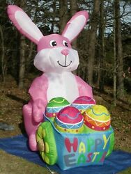 8Ft Giant Inflatable Easter Bunny Rabbit Statue Party Event Activity Decor