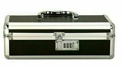 LOCKABLE ADULT CASE KEYLESS STORAGE PRIVACY BOX BLACK - Small or Large