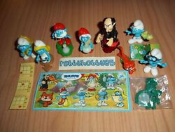Smurfs - The Lost Village Complete Set With All Papers Kinder Surprise 2017