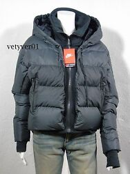 Nike Uptown 550 Down Cocoon Jacket Black/charcoal Size S