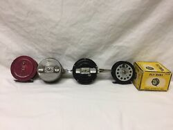 Lot Of 4 Vintage Fly Fishing Reels South Bend 1110 Shakespeare 1822 Martin 03