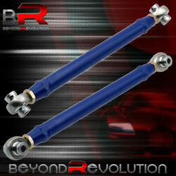 Adjustable Pillowball Blue Rear Racing Toe Arms For 16-19 Chevy Chevrolet Camaro
