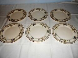 6 Lenox The Colonial 8 1/4 Salad Plates Discontinued 1948 - Excellent