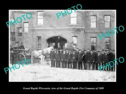 Old 8x6 Historic Photo Of Grand Rapids Wisconsin The Fire Department C1888