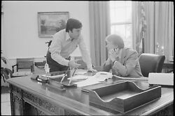 Poster, Many Sizes Hamilton Jordan Consults With Jimmy Carter In The Oval Offic