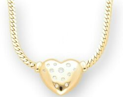 18carat Yellow Gold 16.5and039and039 0.33ct Diamond Heart Pendant 20x19mm