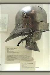 Poster, Many Sizes Knight Armor Sallet Helmet, Southern Germany, 1480-1490