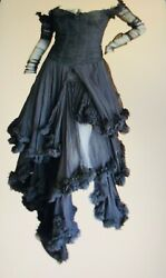 Alexander McQueen FW 2002-3 Black Silk Gothic Romanticism Gown 42 - With Tags