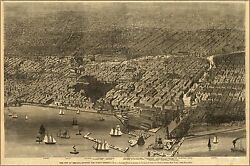 Poster, Many Sizes Map Of Chicago St. Paul Fond Du Lac Railroad 1855