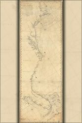 Poster, Many Sizes Map United States Coast Cape Cod To Havannah 1784
