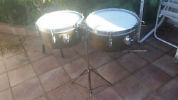 Leedy Timbales By Slingerland 13 And 14 With Case