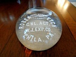 Whitall Tatum Millville Glass Paperweight South New Jersey Advertising Faceted