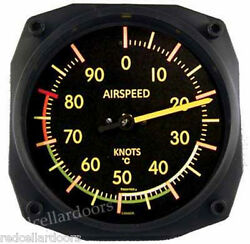 New Trintec Vintage Aviation Airspeed Indicator Wall Celcius Thermometer 6.5