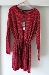 CHARLIE PAIGE TUNIC~RED & WHITE~LARGE~CUTE CHRISTMAS SWEATER~NWT~ITEM #401912