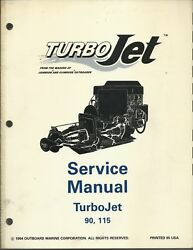 Evinrude Johnson Outboards Turbo Jet 90 115 Hp 1995 Service Manual P/n 503141