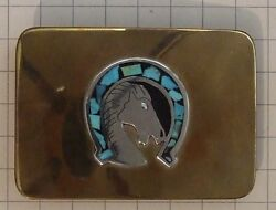 Prison-made Andlsquohorse And Lucky Horseshoeandrsquo Belt Buckle Made By Hand Andndash 275